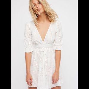 For Love & Lemons white eyelet dress